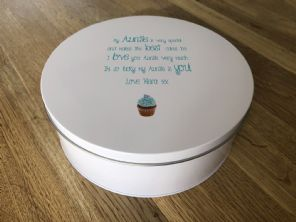 Shabby Personalised chic AUNTIE AUNTY AUNT Cake Biscuit Tin gift ANY NAME Baker - 332815656964
